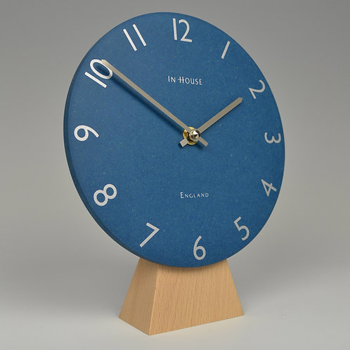 Inhouseclocks - denim blue mantel clock