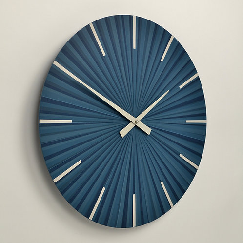 Inhouseclocks - denim blue contemporary British wall clock