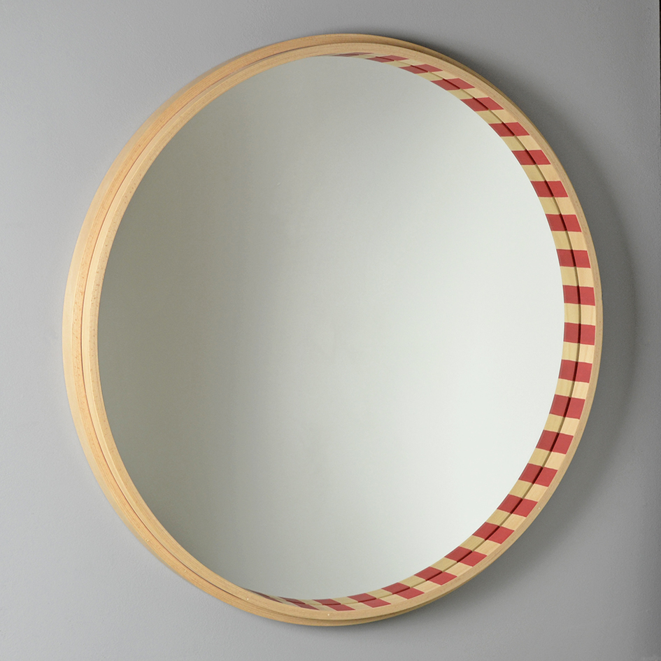Laminated Beech Mirror