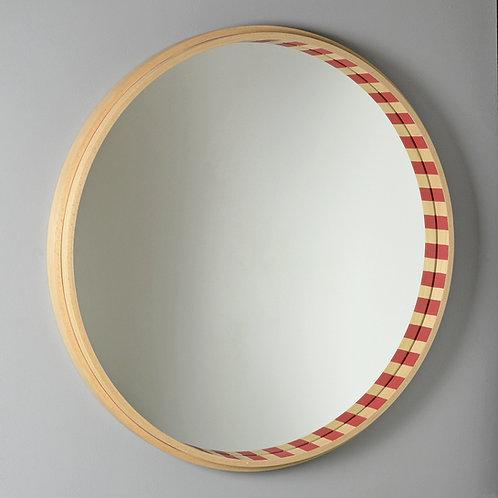 60cm Circular beech wood mirror