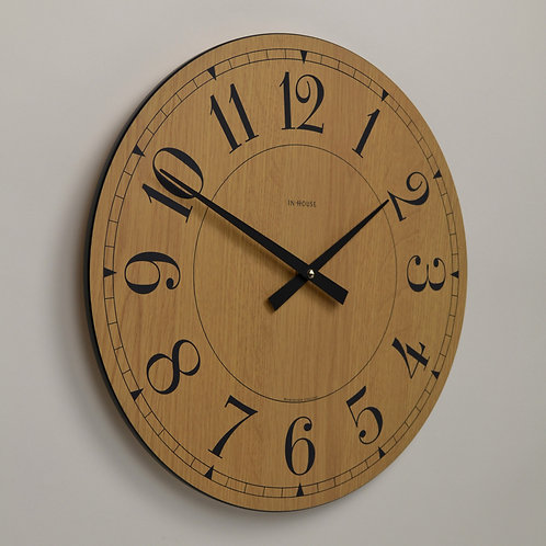 Inhouseclocks - classic handmade oak kitchen wall clock