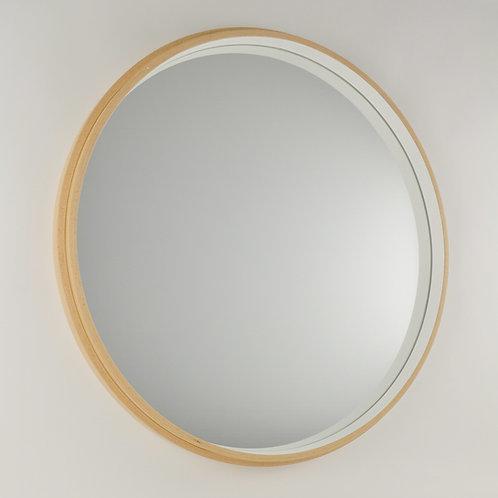 Inhouse mirrors - large modern circular beech wood mirror