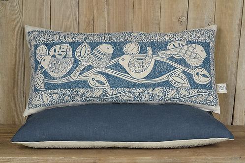 Jill Pargeter - 'Birds' hand printed linen cushions