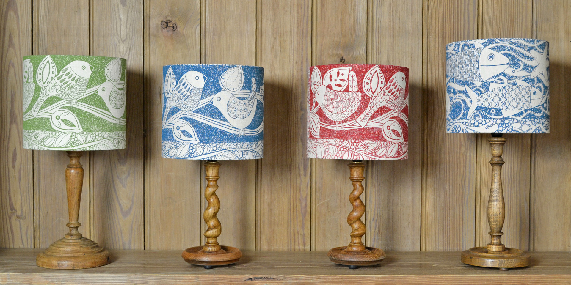 linen lampshades designed by Jill Pargeter