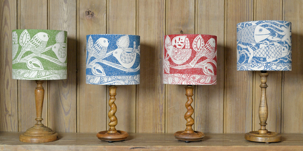 Jill Pargeter | Linen Lampshades | hand printed textiles