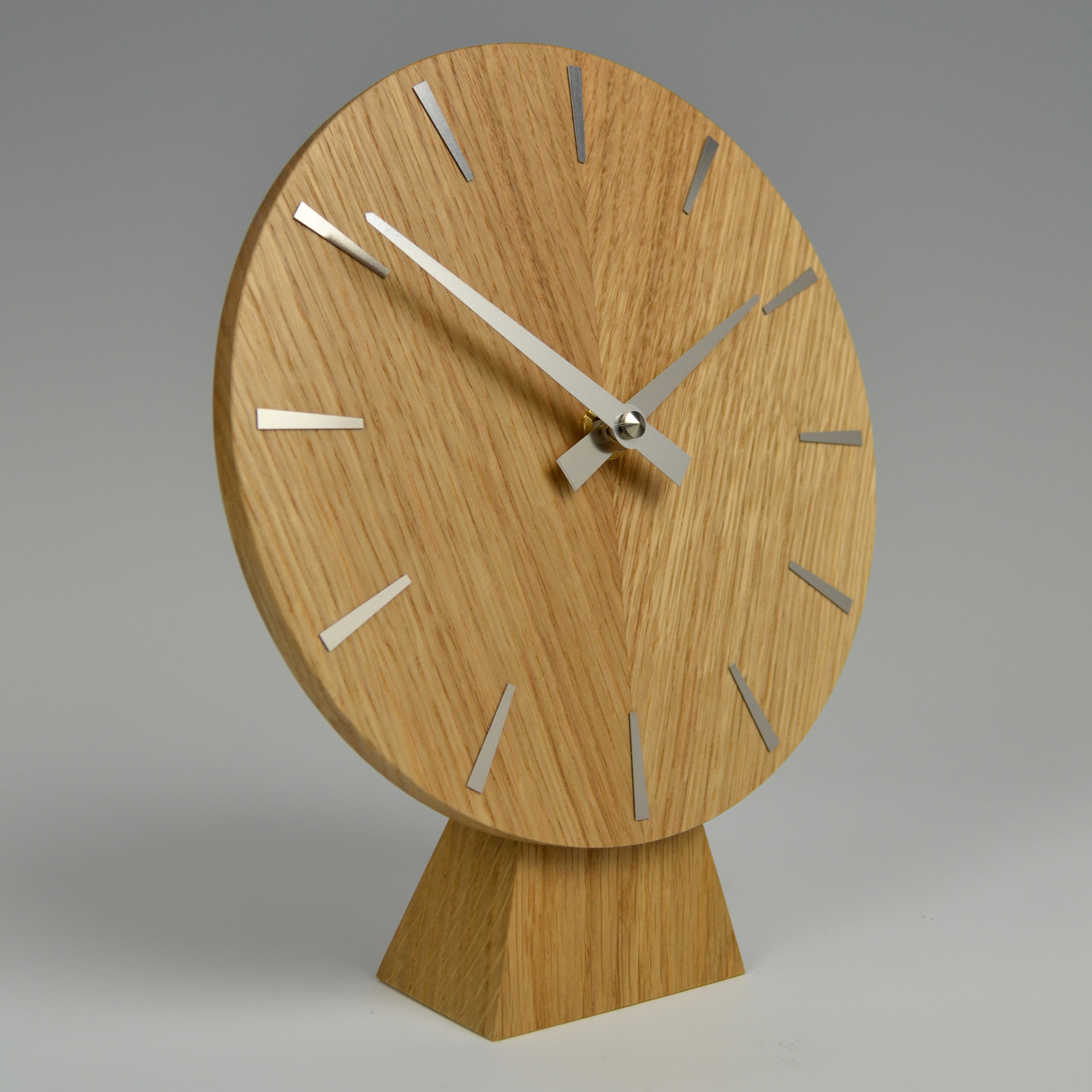 Handmade Oak mantel clock