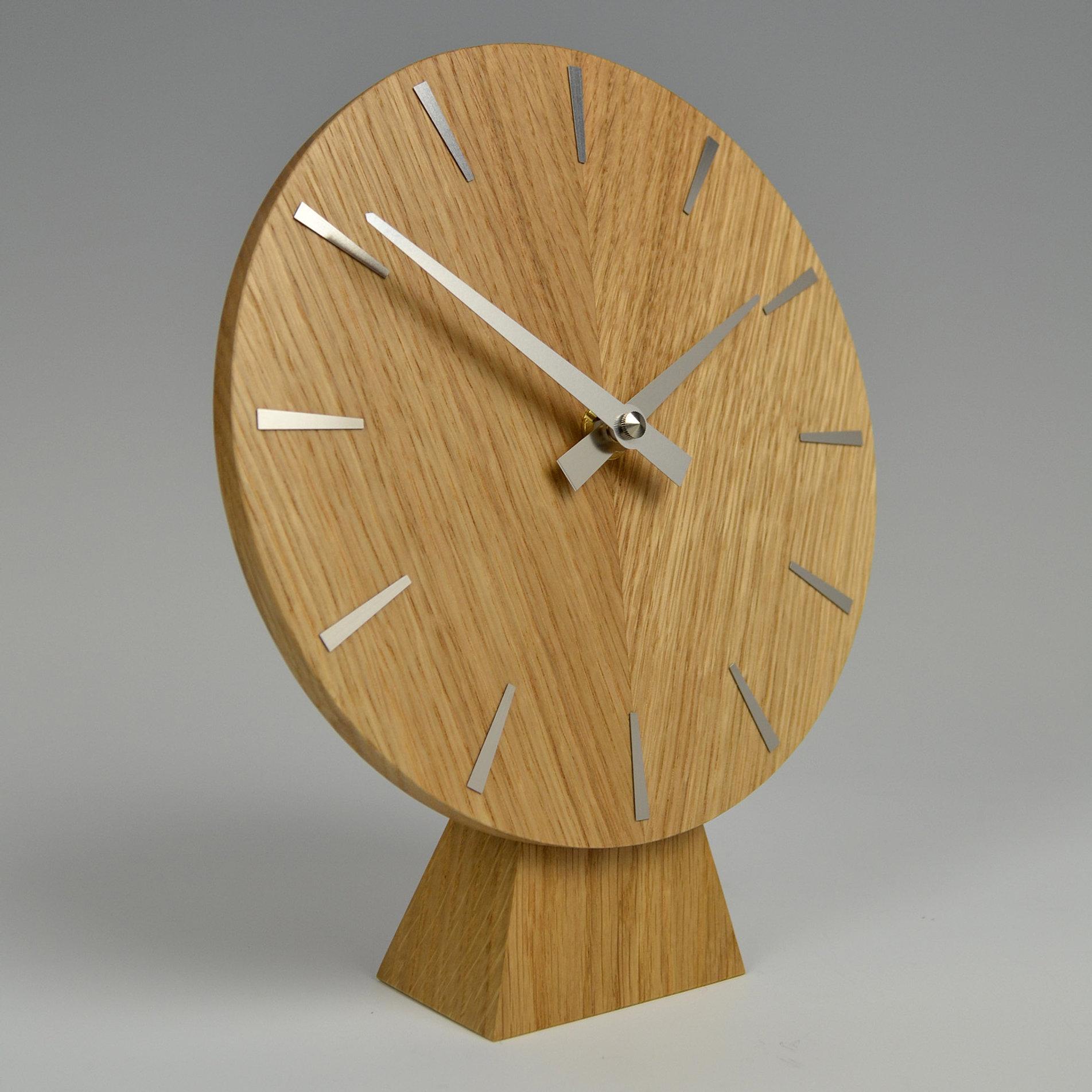 Contemporary clocks handmade in england uk inhouseclocks inhouse oak mantel clock amipublicfo Gallery