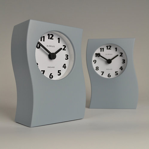 Inhouseclocks - wave mantel clock pale blue