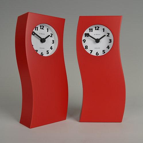 Inhouseclocks - unique red mantel clock