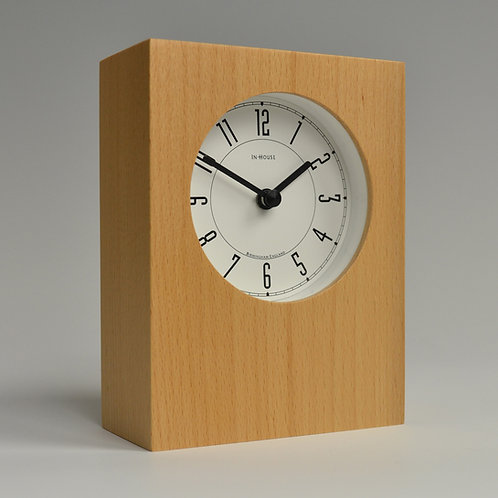 Inhouseclocks - simple modern beech wood desk clock