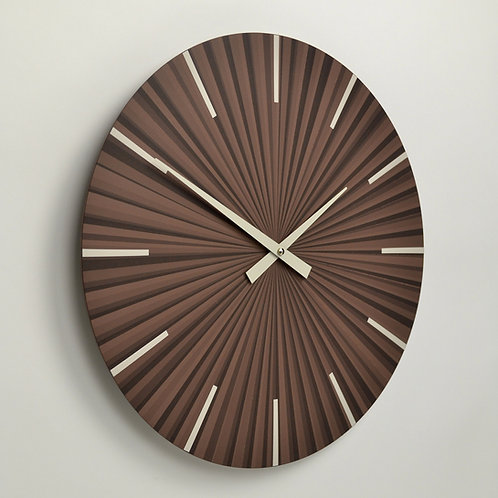 Inhouseclocks - striped multi colour contemporary wall clock - handmade in England