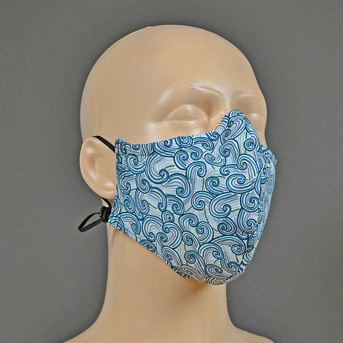 Liberty fabric face mask - blue