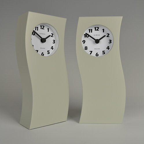 Inhouseclocks - handmade contemporary wave mantel clock