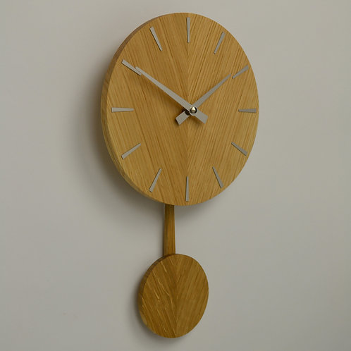 Inhouseclocks - British handmade Oak pendulum wall clock