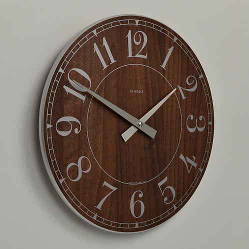 Inhouseclocks - classic walnut station wall clock