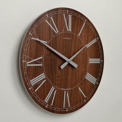 Inhouse Clocks | handmade in England | large walnut wall clock