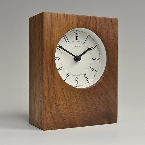Inhouseclocks - handmade Walnut solid wood desk clock