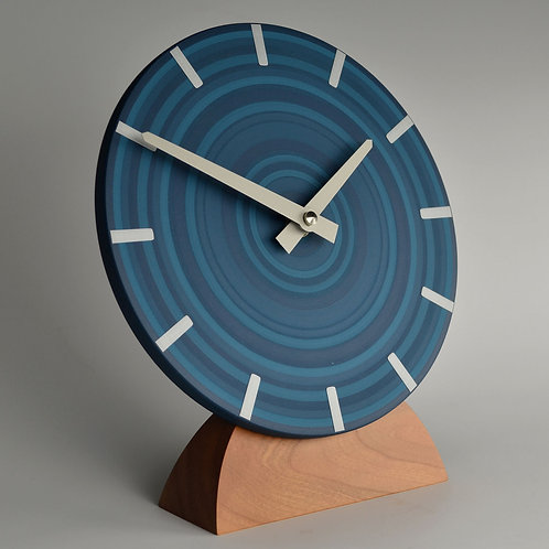 hand painted contemporary blue mantel clock