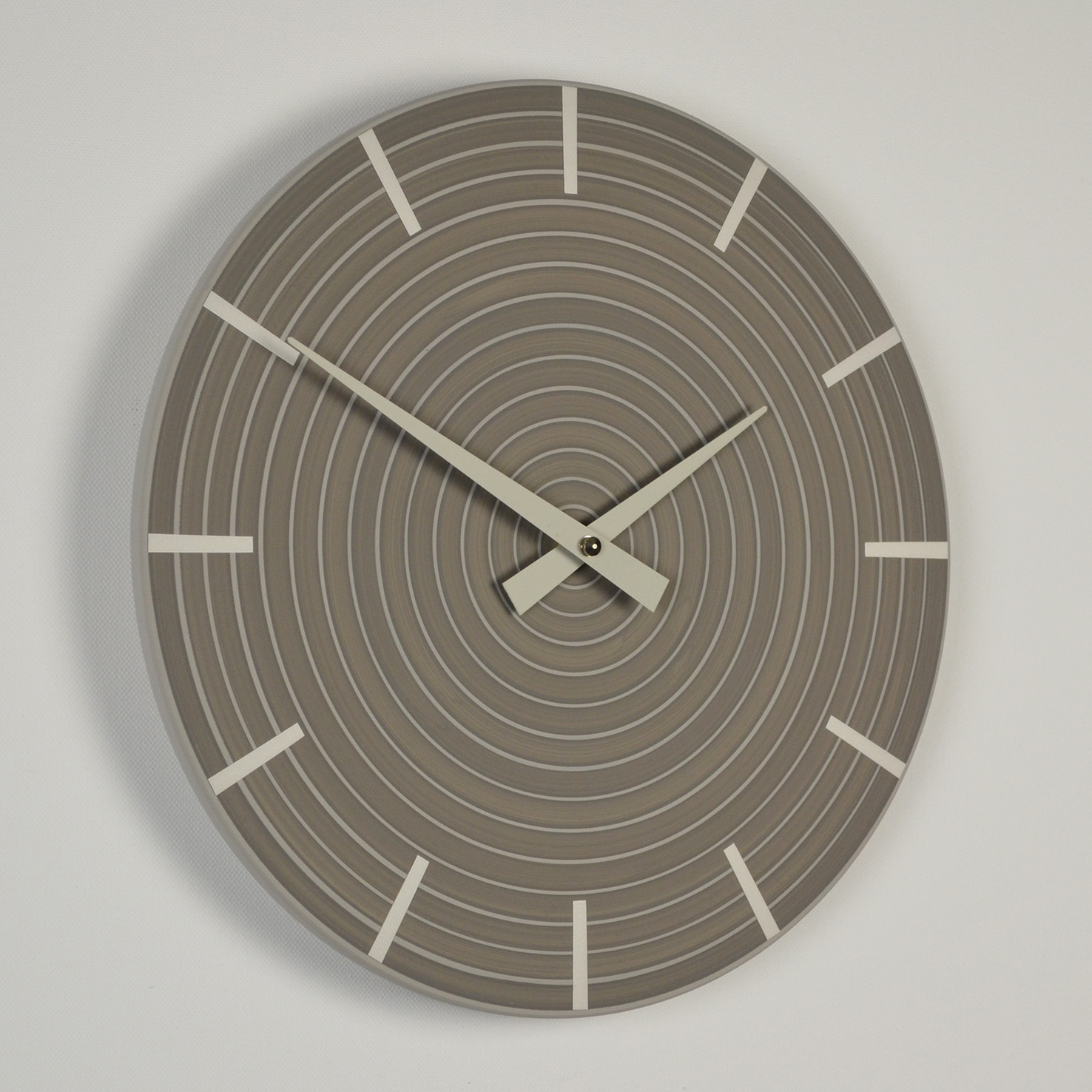 Inhouse Clocks | handmade in England | grey wall clock