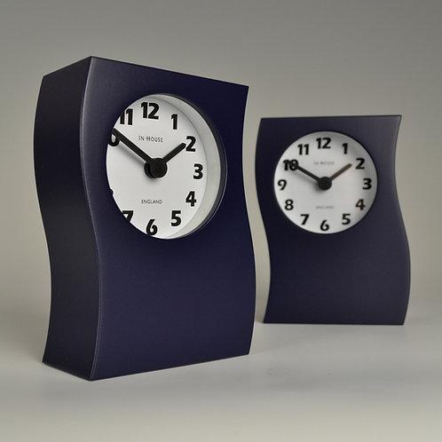 Inhouseclocks - short 'wave' mantel clock navy blue