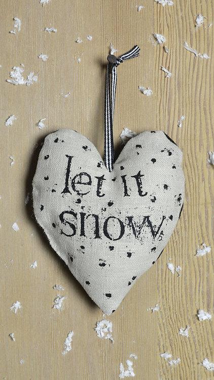 Christmas Decorations - Let It Snow / black