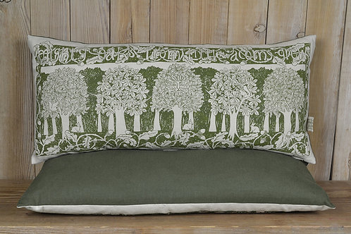 Jill Pargeter - 'Oakwood' hand printed linen cushion