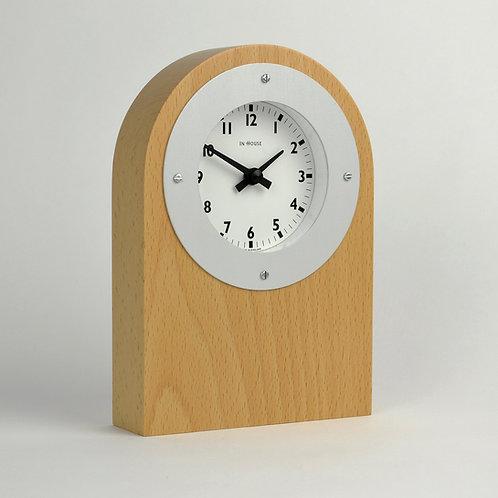 Handmade beech mantel clock
