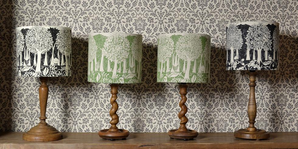Handmade linen lampshades