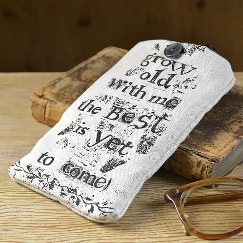 Linen Glasses Case - Grow Old