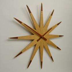 large handmade solid oak wall clock