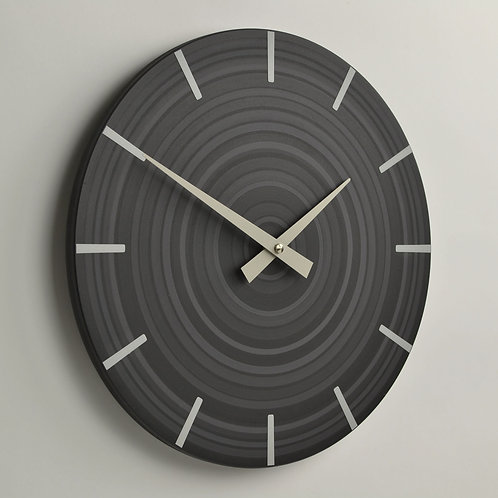 hand painted abstract grey wall clock