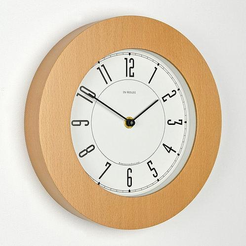 small beech wood wall clock handmade in uk
