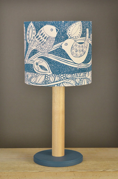 handmade solid ash table lamp