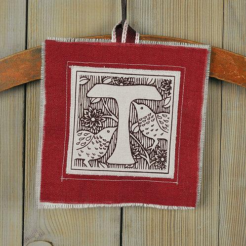 letter T - lavender bag for valentines day