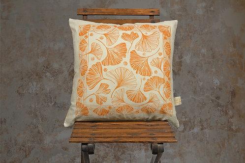 Jill Pargeter - linen cushions - Ginkgo leaf design
