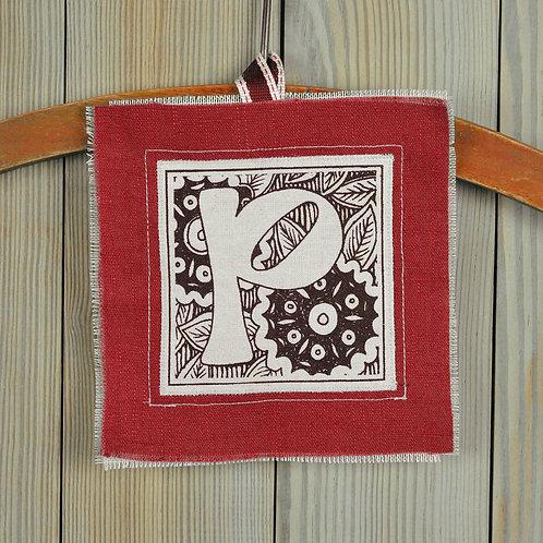letter P - lavender filled valentine gift