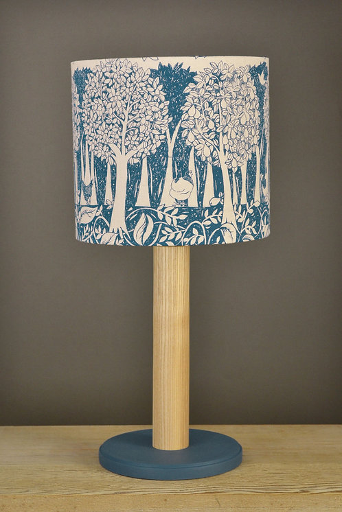 Table Lamp & Linen Shade - Orchard / Indigo
