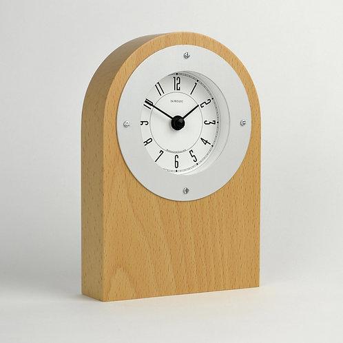 Handmade beech wood mantel clock