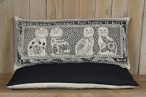 Jill Pargeter - hand printed linen cushions made in England