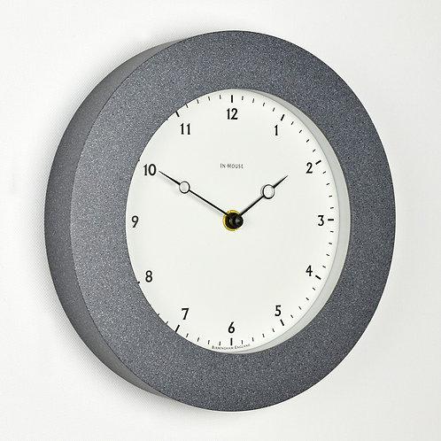 simple grey stone effect wall clock