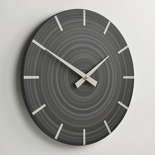 Handmade contemporary wall clock 30cm diameter - dark grey