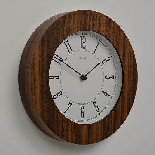 Inhouseclocks - small Walnut 'Deco' kitchen clock