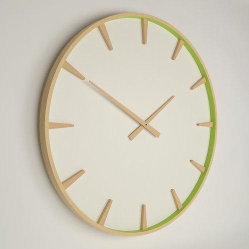 Inhouseclocks | large Scandinavian style beech wood wall clock