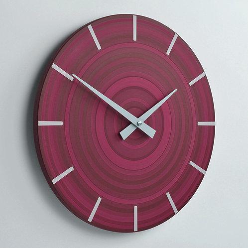 handmade maroon wall clock 30cm diameter