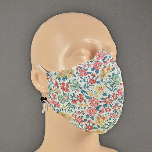 Liberty fabric triple layer face masks