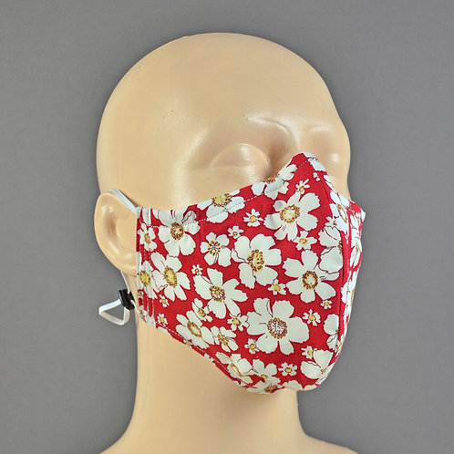 Handmade fabric triple layer face masks