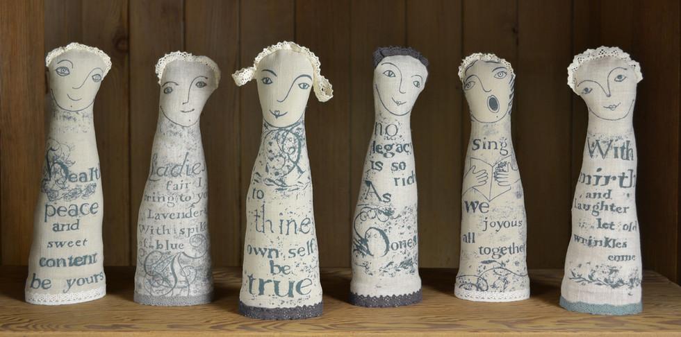 Shakespeare linen figures