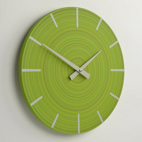 UK handmade contemporary wall clock - Green - 30cm diameter