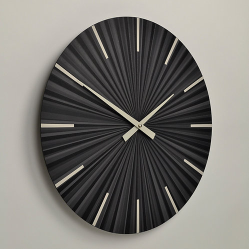 Inhouseclocks - grey contemporary multi tone striped wall clock