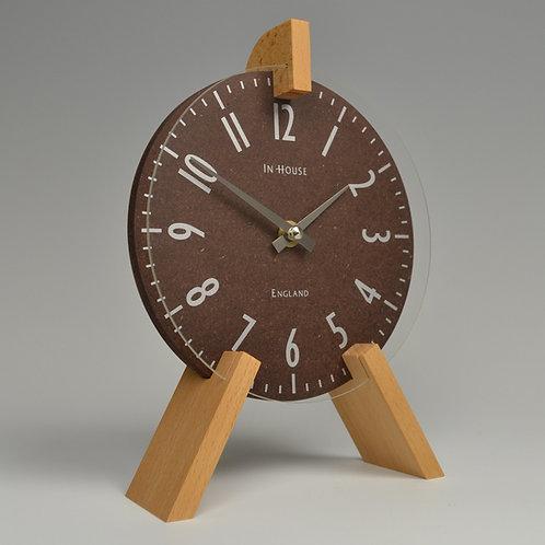 Inhouseclocks - contemporary handmade beech wood mantel clock